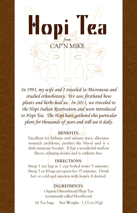 Hopi Tea label